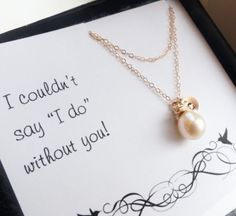 Brides maids gifts. we don't have to order these, we can just create them and get matching necklaces for everyone :)