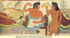 Pinturas de la tumba etrusca: Ancient hombre y sus primeras civilizaciones