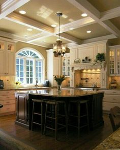 Upscale and comfortable kitchen.