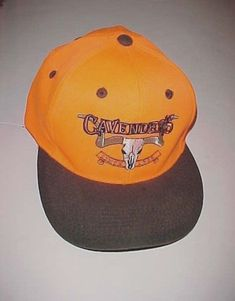 Cavender s Western Adult Unisex Neon Orange Brown Baseball Cap Hat One Size  New  Cavenders   558355077c72