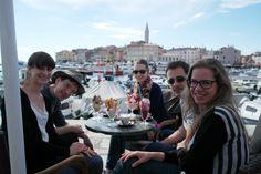 cyLEDGE team trip - enjoying icecream in Rovinj