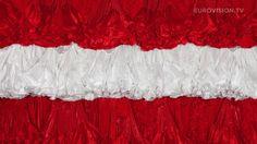Austria's flag art in 2014
