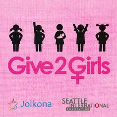 Jolkona's Give2Girls. Invest in the women of tomorrow by giving to girls today!   www.jolkona.org