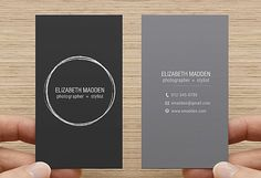 Business Card Printable Premade Template Double sided, Calling Card - Digital Download - Simple Minimal Vertical Gray Design
