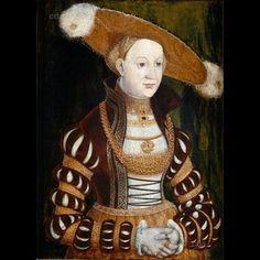 Princess Magdalena of Brandenburg. Lucas Cranach the Elder about 1530 - 1540 Jagdschloss Grunewald (Grunewald