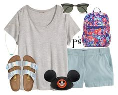 """""""day 1 in Orlando//Hollywood Studios"""" by prep-society ❤ liked on Polyvore featuring J.Crew, H&M, Birkenstock, Vera Bradley, Ray-Ban, Kendra Scott and Disney"""