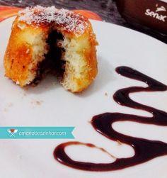 Coulants de coco com recheio de nutella - Amando Cozinhar - Receitas, dicas de culinária, decoração e muito mais!