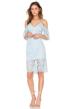Bardot Karlie Lace Dress in Sky Blue