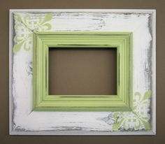 4x6 Madison Picture Frame-Hand Painted-Distressed-Choose Your Size and Color. $29.99, via Etsy.
