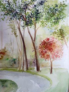 Fisun Yaldır.                                                     Sulu boya / watercolor