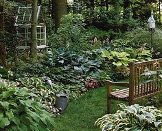 Very nice shade garden