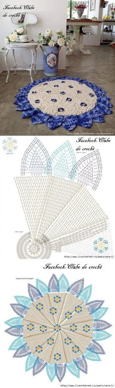 crochet round rugs... ♥ Deniz ♥: