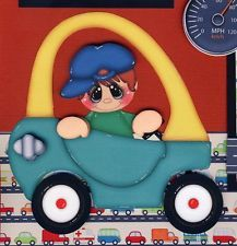 LITTLE TIKES car 2 premade scrapbook pages paper piecing 4 album BOY ~ BY CHERRY