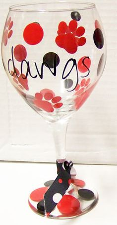 University of Georgia UGA Red & Black Bulldog Wine by kimieann, $10.00