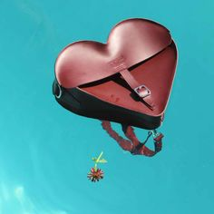 Heart satchel designed by Aggy Deyn for Dr. Martens