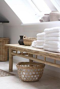 Natuurlijke materialen #badkamer