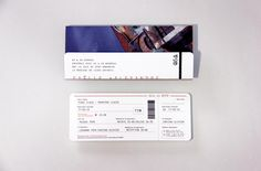 Invitation de mariage - Billet d'avion / Wedding invitation - airline ticket by Allons-y Alonso Design d'invitations & fun !