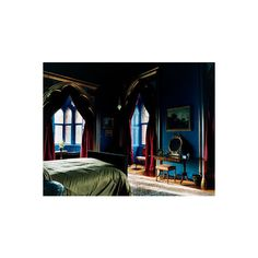 FUCK YEAH BEDROOMS! Ravenclaw ❤ liked on Polyvore featuring rooms, interior, backgrounds, bedroom and house