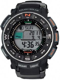 22eb9146363 Casio Men s PRO TREK Atomic Solar Digital Chronograph Watch - PRW2500R-1CR