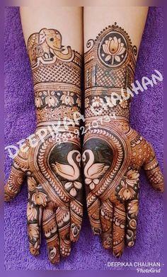 Rashikaprajapat@gmail.com Wedding Henna Designs, Peacock Mehndi Designs, Indian Henna Designs, Engagement Mehndi Designs, Mehndi Designs Book, Mehndi Design Pictures, Unique Mehndi Designs, Beautiful Henna Designs, Mehndi Patterns
