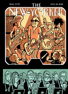 """The New Yorker - Monday, November 23, 2015 - Issue # 4616 - Vol. 91 - N° 37 - Cover """"Virtual Music"""" by """"Seth"""" - Gregory Gallant"""