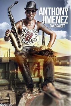 "ANTHONY JIMENEZ Saxofonista. En Alhaurín ""Fashion 2013"""