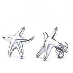 Starfish Stud Earrings 925 Sterling Silver (93 DKK) ❤ liked on Polyvore featuring jewelry, earrings, grey, stud-earrings, beach jewelry, sterling silver beach jewelry, sterling silver nautical jewelry, starfish stud earrings and sterling silver jewellery