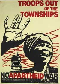 End Conscription Campaign, printed this poster against sending troops into the townships, in The ECC worked closely with the UDF. African History, Women In History, World History, Black History, Cover Design, Patriotic Posters, Political Posters, History Online, Apartheid
