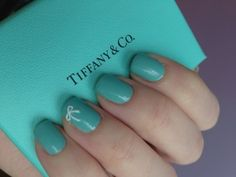 Tiffany blue nails---- I am absolutely in love with these nails !!!!!!!!