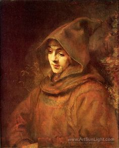 Portrait of Titus in Monk Costume - Rembrandt van Rijn