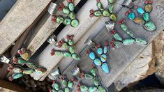 Anything cactus-related is always in style, but add turquoise into the mix and it's that much better! These turquoise pendants from Junque Gypsy are making our desert dreams come true. They're also a great addition to your statement jewelry collection! Cowgirl Tuff, Gypsy Cowgirl, Cowgirl Style, Cowgirl Fashion, Coral Accents, Desert Dream, Old Gringo, Cowgirl Jewelry, Nail Games