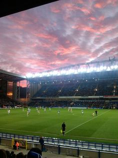 Scenic Ewood Park as the sun goes down. 30/11/13. Rovers 1 Leeds 0.