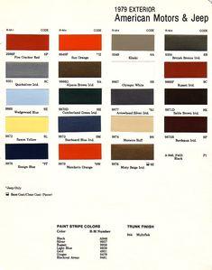 1975 AMC Paint Colors | Zoom zoom | Pinterest | Zoom zoom ...