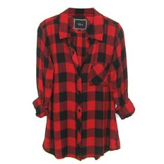 Rails Hunter Plaid Shirt in Black/Red Check ($128) ❤ liked on Polyvore featuring tops, shirts, flannels, blouses, red plaid top, black top, red flannel shirt, red top and black plaid shirt