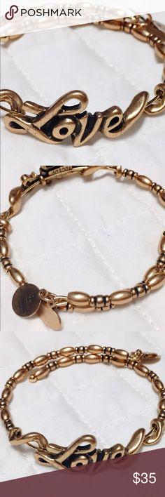 ❤️ Alex & Ani Love Bangle ❤️ In perfect NWOT condition, never worn. Rafaelian gold finish Alex & Ani Jewelry Bracelets