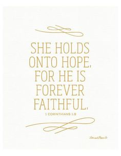 Best Inspirational Quotes About Life QUOTATION – Image : Quotes Of the day – Life Quote 1 Corinthians 1:19 Print – Scripture – Bible Verse – She holds onto Hope – Faithful – Grace – Christian Art Sharing is Caring – Keep QuotesDaily...