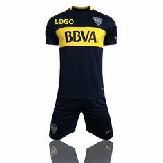 17/18 Adult Club Atlético Boca Juniors Soccer Jersey Uniforms Men Cheap Football Kits Wholesale