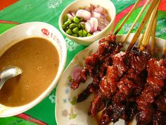 Satay, there are about 15 or 20 versions of satay all over Indonesia