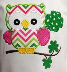 St Patty's Owl Applique Shirt by SissyNBubbaBoutique on Etsy, $20.00