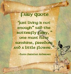 Fairy Quote - Hans Christian Andersen