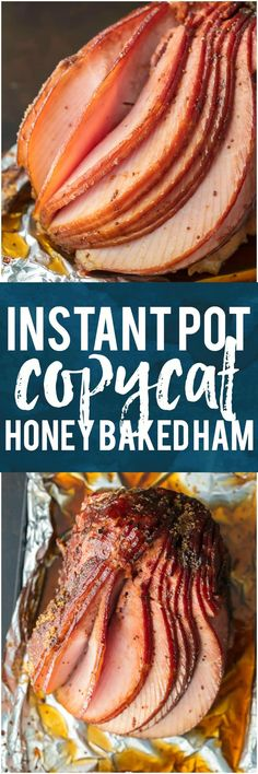 This INSTANT POT COPYCAT HONEY BAKED HAM will make your Christmas both easy and delicious! Made in minutes and just like the real thing. #HoneyYummy