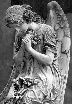 ☫ Angelic ☫ winged cemetery angels and statuary - Cemetery Angels, Cemetery Statues, Cemetery Art, Angels Among Us, Angels And Demons, Statue Ange, Old Cemeteries, Graveyards, I Believe In Angels