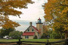 Eagle Bluff Lighthouse - Peninsula State Park between Ephraim and Fish Creek - Door County, Wisconsin