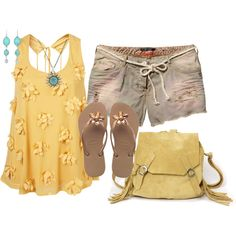 """""""Flowers on the Beach"""" by debbie-probst on Polyvore"""