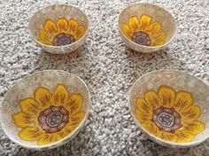 Sunflower bowl by Luisa Brusco Denurchis, Venice 2015 www.etsy.com/duodesign458