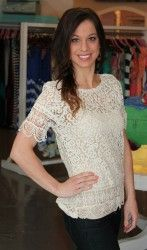 Crochet Scalloped Top- Ivory - Dottie Couture Boutique