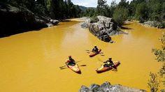 Vazamento tóxico tinge rio cor de mostarda nos EUA | Panorama Eco