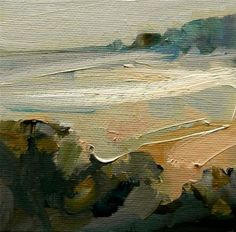 """Daily+Paintworks+-+""""Edge+of+the+Bay""""+-+Original+Fine+Art+for+Sale+-+©+Anne+Wood"""