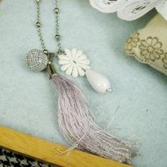 Romantic Pink Floral Necklace