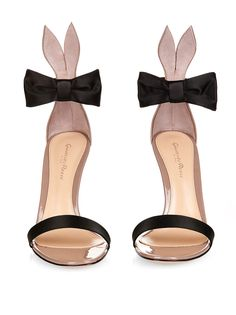 Bunny bow-tie patent-leather and satin sandals | Gianvito Rossi | MATCHESFASHION.COM UK